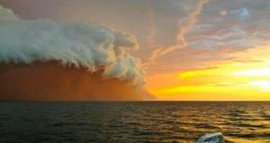 The apocalypse? Nope, just a giant wall of dust heading for Australia.