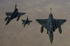 French Mirage 2000 D aircraft fly to N'Djamena overnight January 11 to 12, after taking off from the French military base of Nancy.