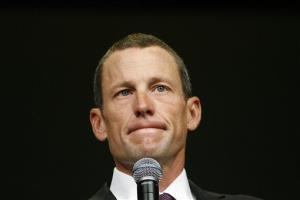 This Aug. 24, 2009 file photo shows Lance Armstrong during the opening session of the Livestrong Global Cancer Summit in Dublin, Ireland.