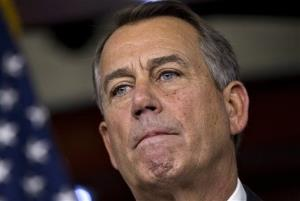 Speaker of the House John Boehner, R-Ohio, speaks to reporters about the fiscal cliff negotiations at the Capitol in Washington, Friday, Dec. 21, 2012.