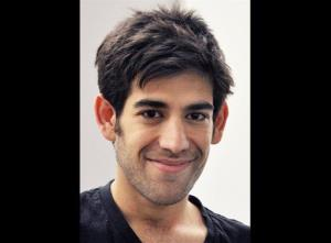 This photo shows Aaron Swartz, a co-founder of Reddit, who hanged himself Friday, Jan. 11, 2013, in New York City.