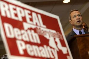 Maryland Gov. Martin O'Malley speaks at a rally in support of repealing the state's death penalty.