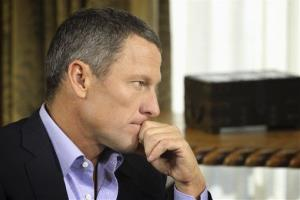 In this Monday, Jan. 14, 2013 photo provided by Harpo Studios Inc., cyclist Lance Armstrong listens to a question from Oprah Winfrey.
