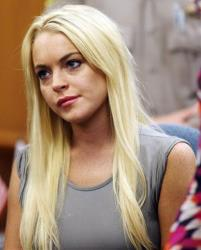 Lindsay Lohan is shown in a court, Tuesday, July 20, 2010, in Beverly Hills, Calif., where she was taken into custody to serve a jail sentence for probation violation.