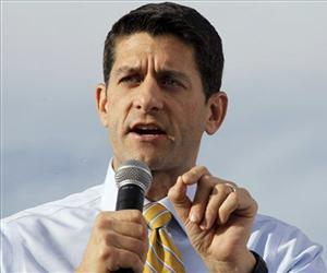 Tthen-vice presidential candidate, Paul Ryan gestures as he speaks during a campaign event in this Nov. 5 file photo.