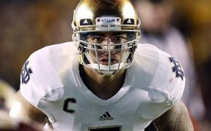 Notre Dame linebacker Manti Te'o in a file photo.
