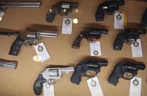 Handguns for sale.