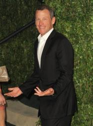 In this Feb. 26, 2012 file photo, Lance Armstrong arrives at the 2012 Vanity Fair Oscar Party Hosted By Graydon Carter held at Sunset Tower, in West Hollywood, Calif.