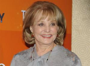 In this Jan. 12, 2012 file photo, Barbara Walters attends the Today show 60th anniversary. She was hospitalized after a fall last night.