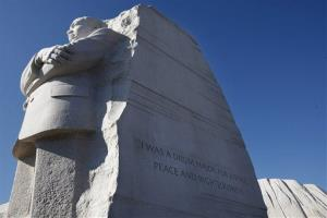 This Jan. 15, 2012 file photo shows the Martin Luther King, Jr. Memorial in Washington.