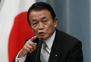 Taro Aso, finance minister of Japan.