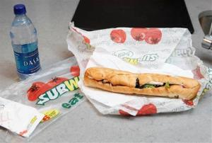 A subway sandwich.