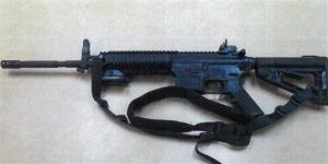 This image provided by the Fontana Unified School District Police shows a Colt LE6940 semiautomatic rifle, one of 14 purchased by the Los Angeles school district to help provide security for the school.