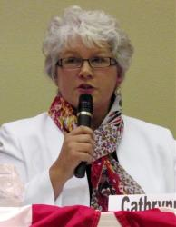 State Rep.-elect Cathrynn Brown, R-Carlsbad, is shown during a candidate forum on Tuesday, Oct. 19, 2010, in Carlsbad, NM.