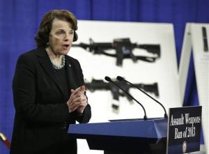 Sen. Dianne Feinstein, D-Calif. speaks during a news conference on Capitol Hill Thursday.
