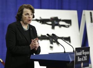 Sen. Dianne Feinstein, D-Calif. speaks during a news conference on Capitol Hill Thursday.