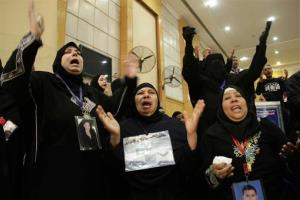 Families of the victims react in court with joy after the verdict.