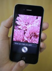 Siri, Apple's virtual assistant, is displayed on the Apple iPhone 4S.