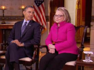 President Obama and Hillary Clinton on 60 Minutes.