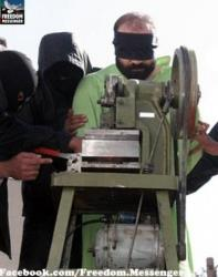 The Iranian finger-chopping device resembles a rotary saw.