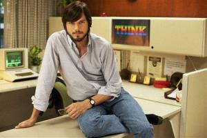 This undated publicity photo released by the Sundance Institute shows Ashton Kutcher as Steve Jobs in the film, jOBS, directed by Joshua Michael Stern.