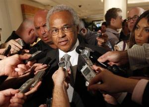 In this June 30, 2011, file photo, Union chief Billy Hunter speaks to reporters after a meeting with the NBA in New York.