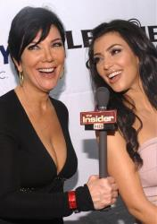 Kris Jenner, left, and party co-host Kim Kardashian arrive at the 6th Annual Leather and Laces Super Bowl Celebration at Jackson's, Friday, Jan. 30, 2009 in Tampa, Fla.