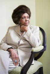 This Jan. 22, 2013 photo shows American gospel singer and author Cissy Houston posing for a portrait in New York.