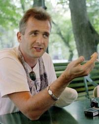 In this Aug. 2000 file photo, investigative journalist Georgy Gongadze is seen in the Ukrainian capital.