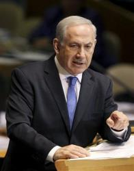 Prime Minister Benjamin Netanyahu of Israel addresses the 67th session of the United Nations General Assembly at UN headquarters Thursday, Sept. 27, 2012.