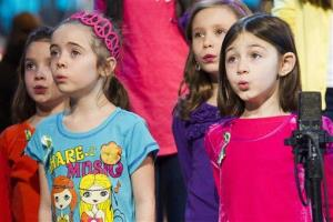 Children from Newtown, Conn. and Sandy Hook Elementary school perform Somewhere Over the Rainbow on ABC's Good Morning America on Tuesday, Jan. 15, 2013 in New York.