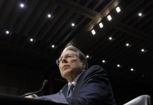 National Rifle Association CEO Wayne LaPierre testifies on Capitol Hill, Wed., Jan. 30, 2013.