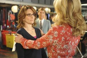 This image released by NBC shows Tina Fey as Liz Lemon, left, and Jane Krakowski as Jenna Maroney in a scene from the series finale of '30 Rock.'