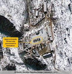 This Jan. 4, 2013 satellite image provided by GeoEye shows North Korea's Punggye-ri nuclear test facility.