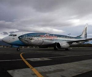 An Alaska Airlines 737-800 is seen at the Ted Stevens Anchorage International Airport in this file photo.