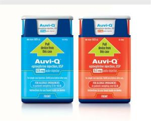 Auvi-Q(tm) (epinephrine injection, USP) is now available by prescription in U.S. pharmacies.