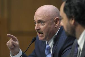 Mark Kelly testifies about the shooting of his wife, Gabrielle Giffords on Capitol Hill, Wednesday, Jan. 30, 2013.