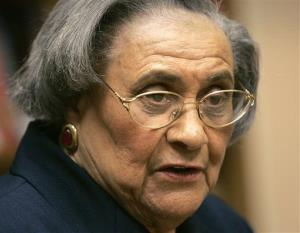 This Jan. 31, 2005 photo shows Essie Mae Washington-Williams during a book signing in Washington.