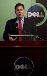 Michael Dell, Chairman and CEO of Dell Inc., speaks during a press conference in Beijing, China, Thursday, March 26, 2009.