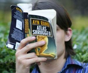 A woman reads Atlas Shrugged in this file photo.