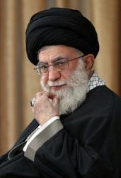 In this Sunday, Oct. 14, 2012 file photo, Supreme Leader Ayatollah Ali Khamenei listens to a speaker during a meeting on his tour of northeastern Iran.
