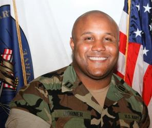 This undated photo released by the Los Angeles Police Department shows suspect Christopher Dorner.