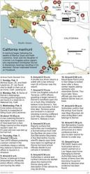Map updates timeline from six timestamps to 13: locates key places in the hunt for Christopher Dorner