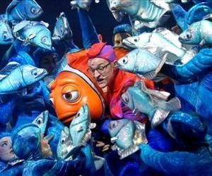 Actors perform during the premiere of Finding Nemo-The Musical at Disney's Animal Kingdom in Lake Buena Vista, Fla., Jan. 24, 2007.