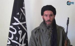 This image from video provided by the SITE Intel Group shows militant militia leader Mokhtar Belmokhtar.
