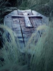 Stock photo of a coffin.