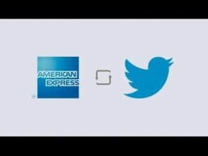 American Express is teaming up with Twitter to allow people to buy special deals with a hashtag.