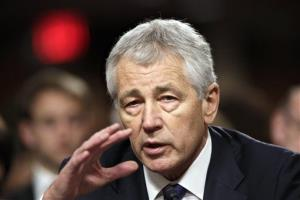 In this Jan. 31 file photo, former Nebraska Republican Sen. Chuck Hagel testifies before the Senate Armed Services Committee.
