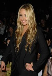 Actress Amanda Bynes attends the BCBG Max Azria Spring 2010 collection during fashion week, in New York, on Thursday, Sept. 10, 2009.