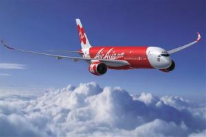 In this computer generated image released Tuesday June 16, 2009 by Airbus, an Airbus A350-900 bearing the Air Asia livery is seen.